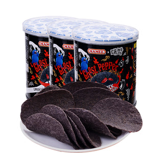 MISTER POTATO GHOST PEPPER BLACK CRISPS(45G)
