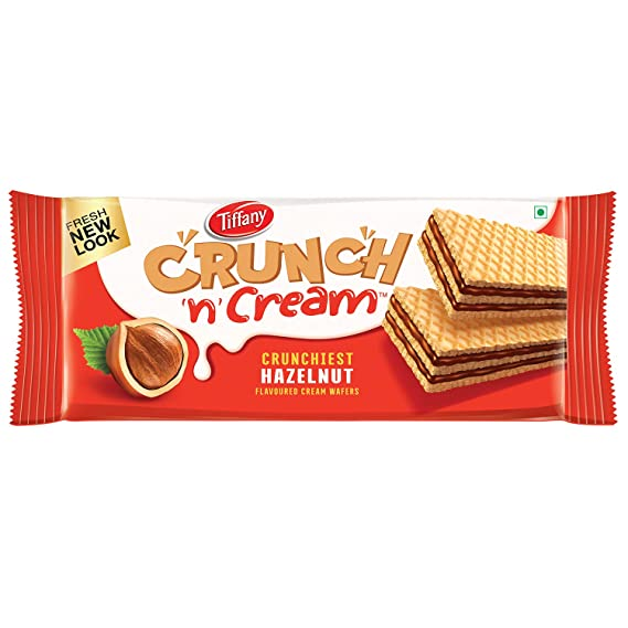 WAFFY CRISPY & CREAMY HAZELNUT FLAVOURED WAFERS(100G)