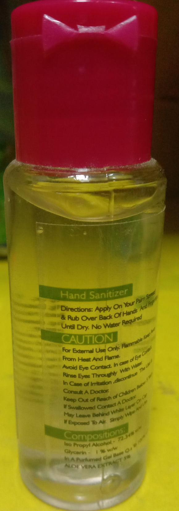 RAUDAH HAND SANITIZER WITH LIME & ALOE VERA (30ML)