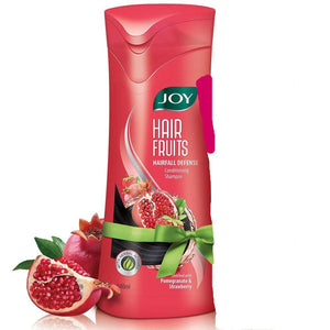 JOY HAIR FRUITS HAIRFALL DEFENCE CONDITIONING SHAMPOO [POMEGRANATE & STRAWBERRY][340ML]