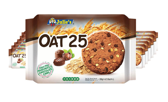 OAT 25 WITH HAZELNUTS & CHOCOLATE CHIPS (200GRAM)