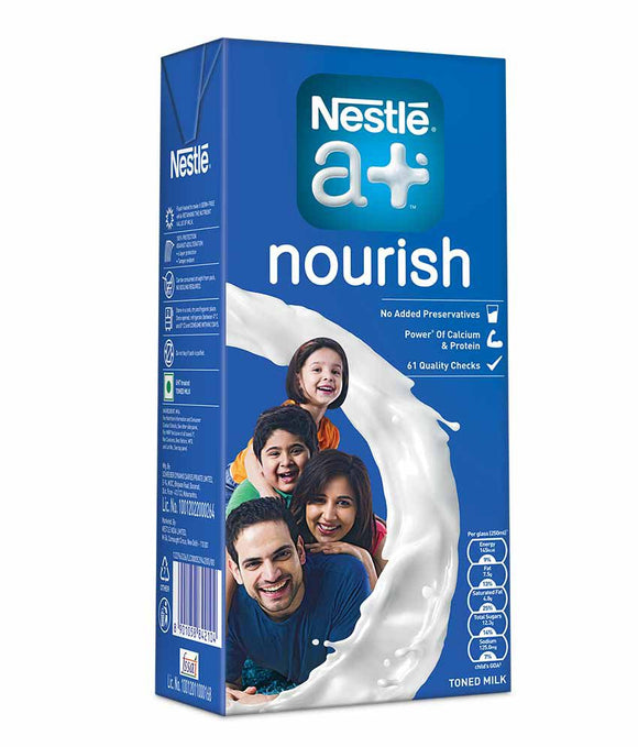NESTLE A+ NOURISH MILK-1LITRE