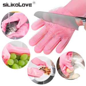SILICON DISH WASHING GLOVES