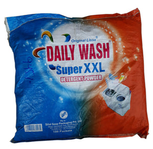 DAILY WASH SUPER XXL DETERGENT POWDER (90G*100 PACKETS)