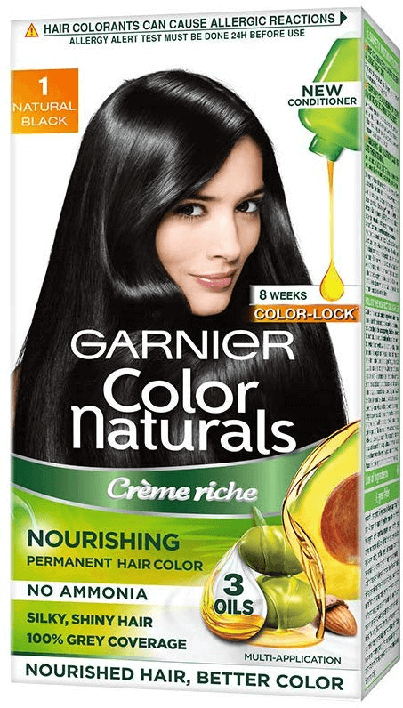 GARNIER COLOUR NATURALS NATURAL BLACK 30ML+30G