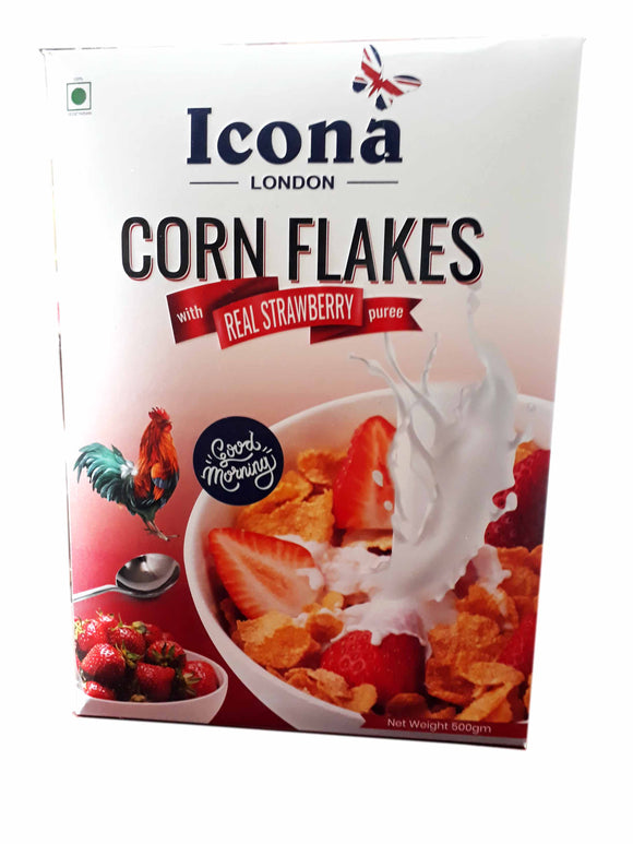 ICONA-CORN FLAKES REAL STRAWBERRY(500G)