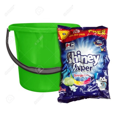 SHINEY SUPER DETERGENT POWDER [2KG+BUCKET FREE]
