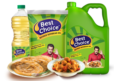 BEST CHOICE REFINED SOYABEAN OIL, 5LITRE