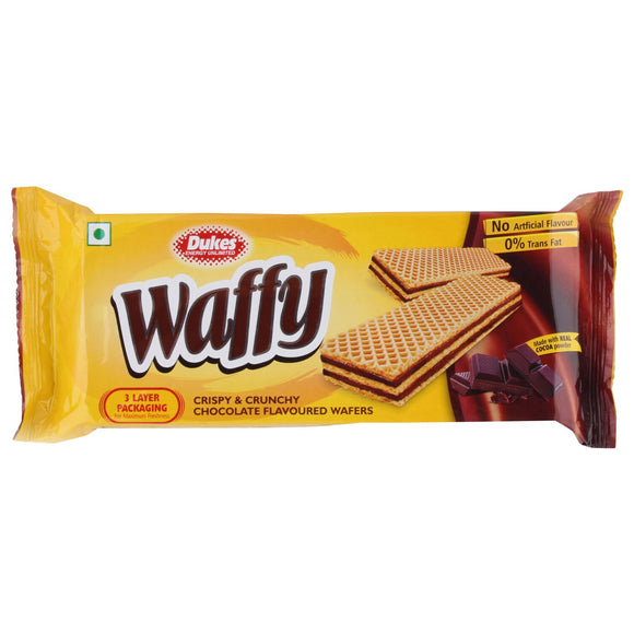 WAFFY CRISPY & CRUNCHY CHOCOLATE FLAVOURED WAFERS(100G)