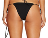 String Along Bottoms RIBBED BLACK
