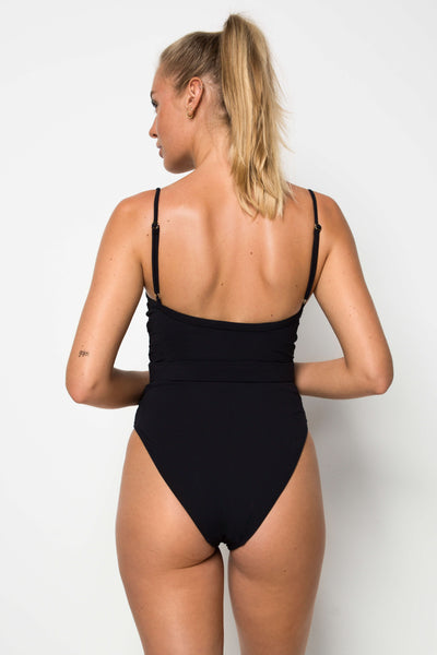 Calgary One Piece - White Rib