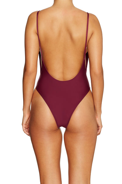 Byron One Piece BORDEAUX - Cantik Swimwear