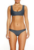 Pay Back Top SLATE - Cantik Swimwear