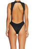 Delusions One Piece RIBBED BLACK - Cantik Swimwear