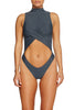 Delusions One Piece SLATE - Cantik Swimwear