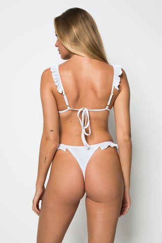 Key Largo Bottom - White Rib - Cantik Swimwear