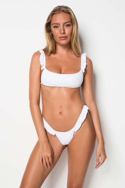 Florida Top - White Rib - Cantik Swimwear