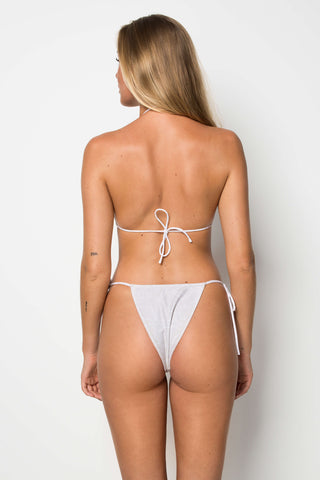 Miami Bottom - Shoreline Print Reversible Beige & White - Cantik Swimwear