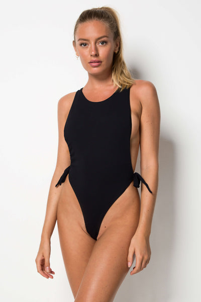 Pan Am One Piece - Black Rib
