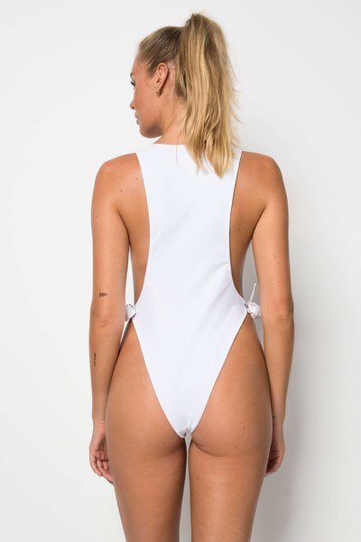 Pan Am One Piece - Shoreline Print Beige & White Reversible