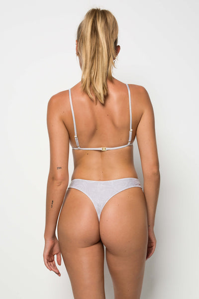 Kokomo Bottom - White Rib - Cantik Swimwear
