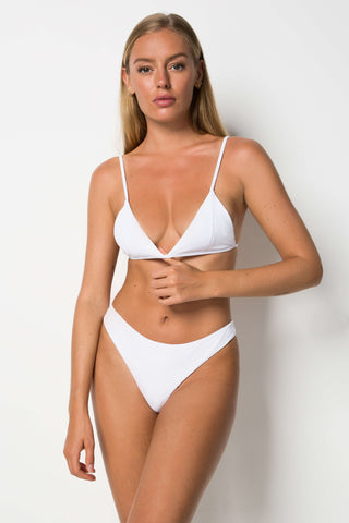 Phoenix Top - White Rib - Cantik Swimwear