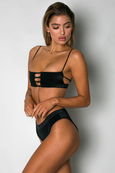 Astrology Top BLACK CORDUROY - Cantik Swimwear