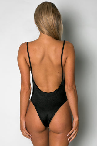 Byron One Piece RIBBED BLACK