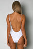 Byron One Piece RIBBED WHITE - Cantik Swimwear