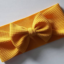 Load image into Gallery viewer, Mustard Bow Headwrap