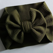 Load image into Gallery viewer, Army Green Bow Headwrap