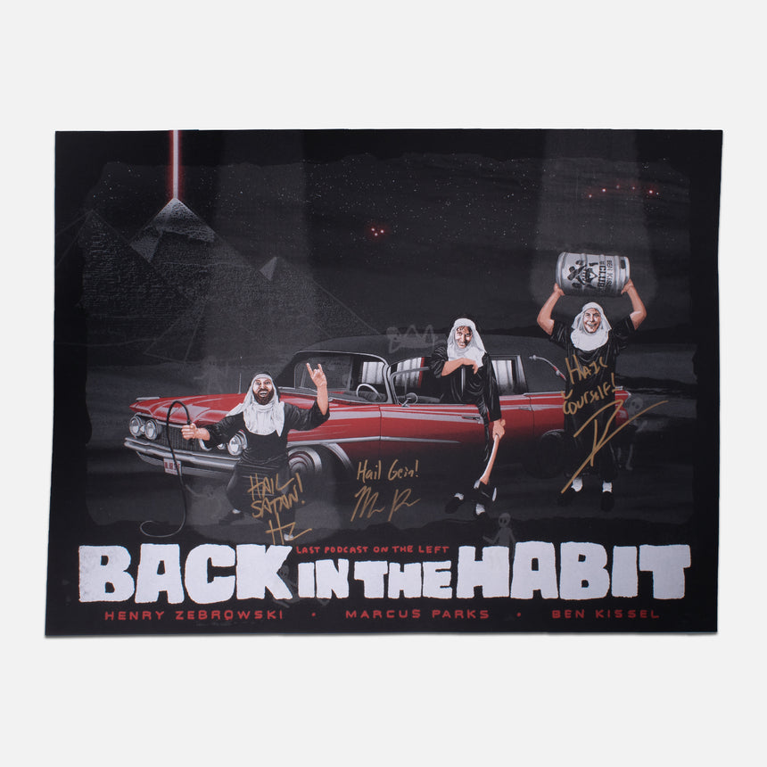 Autographed Back in the Habit Tour Poster