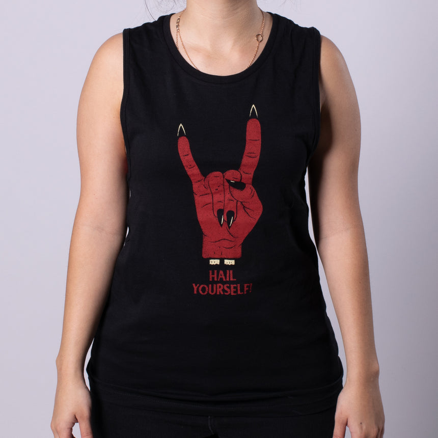 Hail Yourself Women's Jersey Muscle Tank front