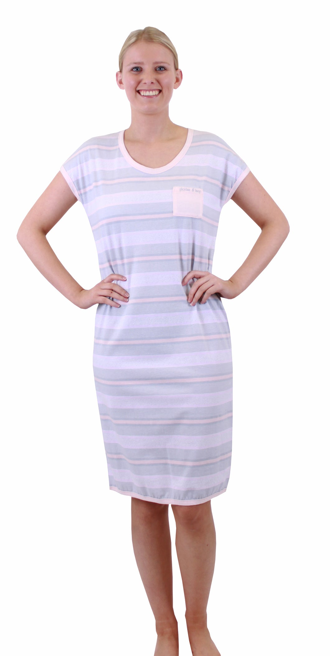 Pickles & Loop Sabrina Stripe Nightie - PL395