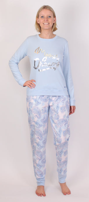 PICKLES AND LOOP PJ SET BLUE PL420