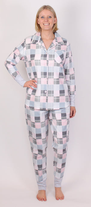 PICKLES AND LOOP PJ SET PINK CHECK PRINT PL446