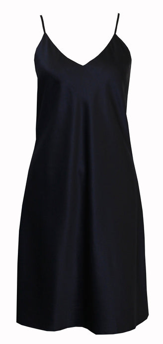 Relax At Home Navy Satin Chemise Nightie - RH365(A)