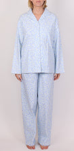 Load image into Gallery viewer, SCHRANK CLARA FLANNELETTE PJ IN FLORAL PRINT - PALE BLUE SK134