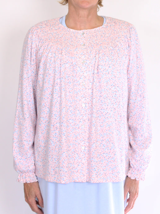 SCHRANK ELISSA BED JACKET COTTON PRINT - PINK SK355