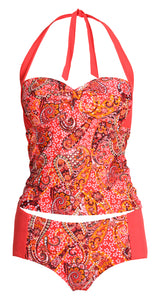 Sea Star Swimwear Paisley Control Tankini Top - 20157