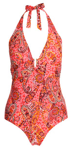 Sea Star Swimwear Paisley Control One Piece - 20159