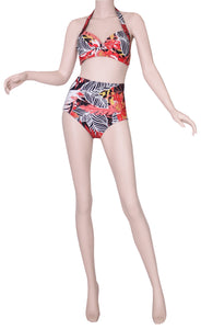 Sea Star Tropical Garden Bikini Top - 39528 front view of bikini top and bottom on mannequin