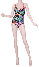 Load image into Gallery viewer, Sea star Shapewear Neon Palm One Piece Swimsuit - 39856 front view on mannequin