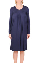 Load image into Gallery viewer, YUU PLEATED DRESS NAVY Y602