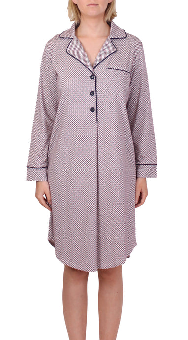 YUU CIRCLE NIGHTSHIRT WITH CIRCLE PRINT NAVY Y614