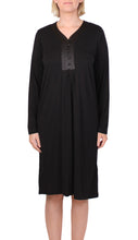 Load image into Gallery viewer, YUU DRESS BLACK SATIN TRIM Y618