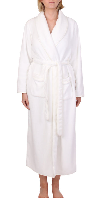 YUU ROBE IVORY SATIN TRIM Y806