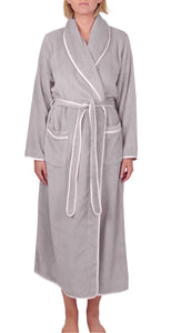Satin Trim Robe Mink - Y806