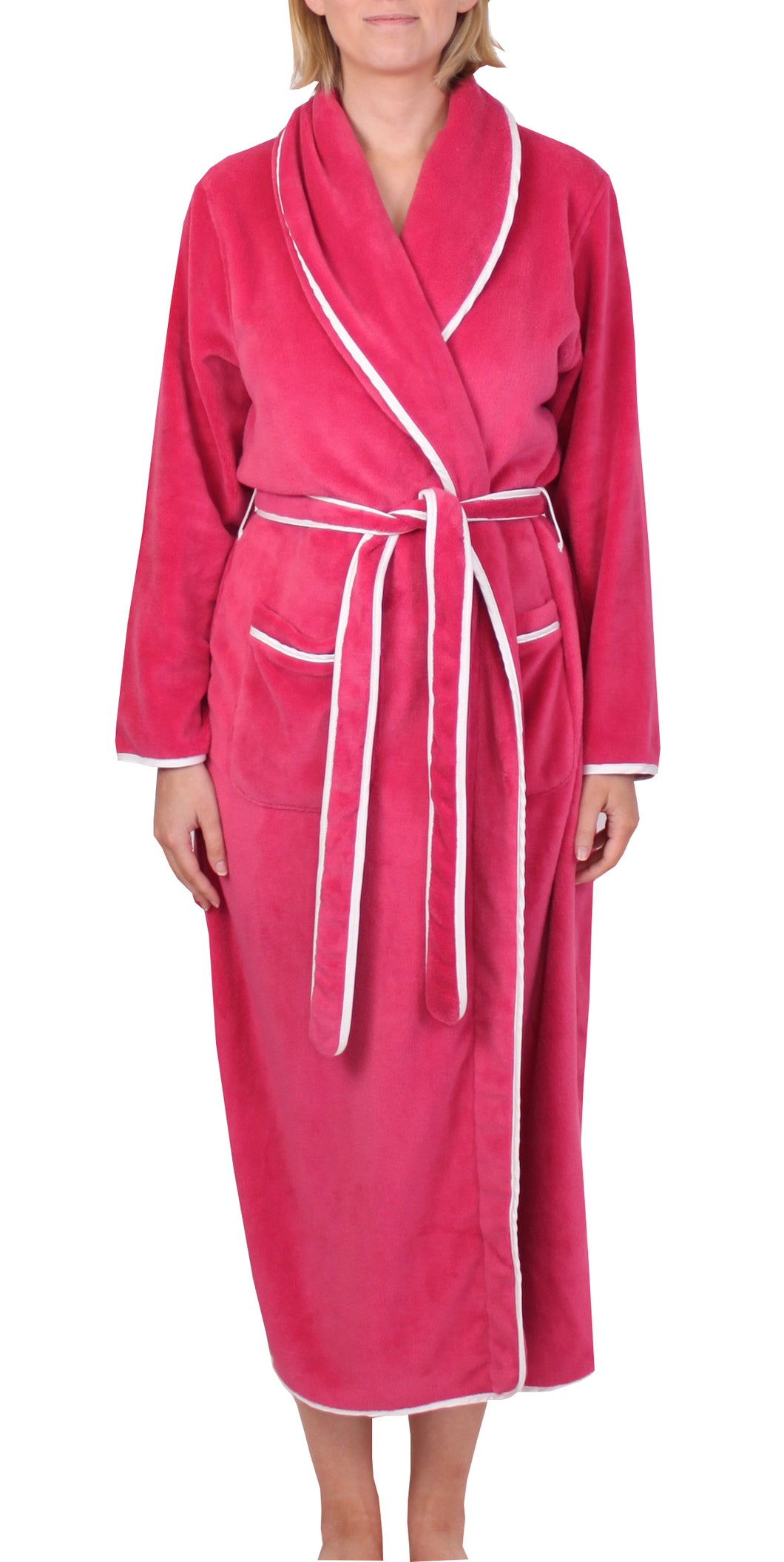 Satin Trim Robe Rose - Y806