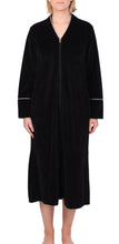 Load image into Gallery viewer, Velour Zip Robe Black - Y818